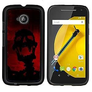 """Be-Star Único Patrón Plástico Duro Fundas Cover Cubre Hard Case Cover Para Motorola Moto E2 / E(2nd gen)( Riendo Evil Skull Skeleton"""" )"""