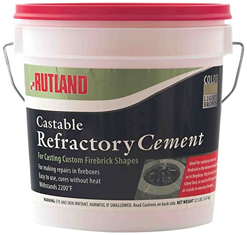 Fire Clay Mortar Mix : Rutland lbs tub castable cement mix with water