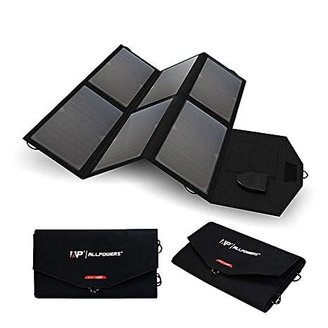 Neoron Cargador Solar, 36 W 18 V Panel Solar Plegable, Carga ...