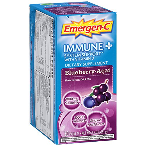 Emergen C Support Powdered Blueberry 30 Count product image