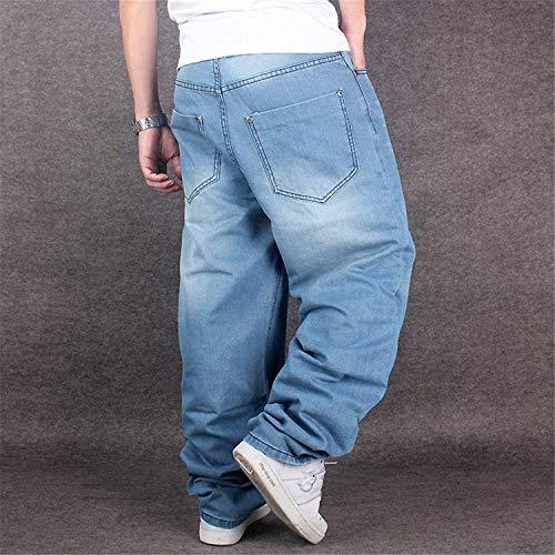 Uomo Hip Pantaloni Da Vintage Jeans Danza Sciolti Colour Denim Moda Ragazzo Hippie Hop Casual qZxwwfER4T