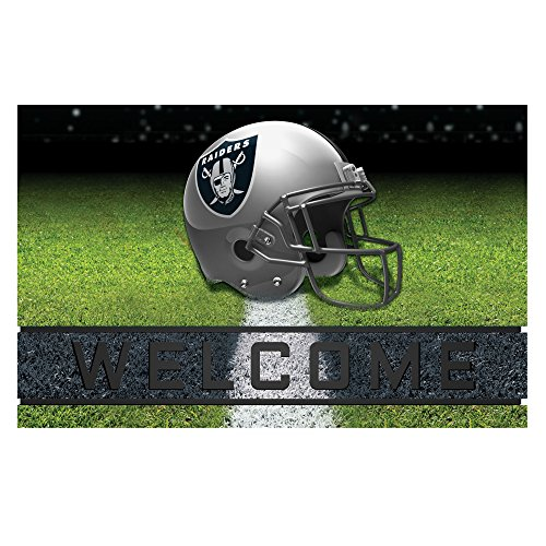 Door Mat Raiders Oakland (NFL Oakland Raiders Heavy Duty Crumb Rubber Door Mat)