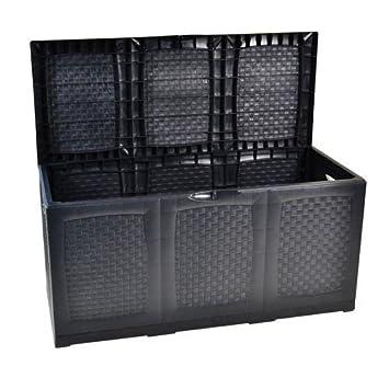 Boîte de rangement/coffre de jardin XXL en plastique, 380 l avec ...