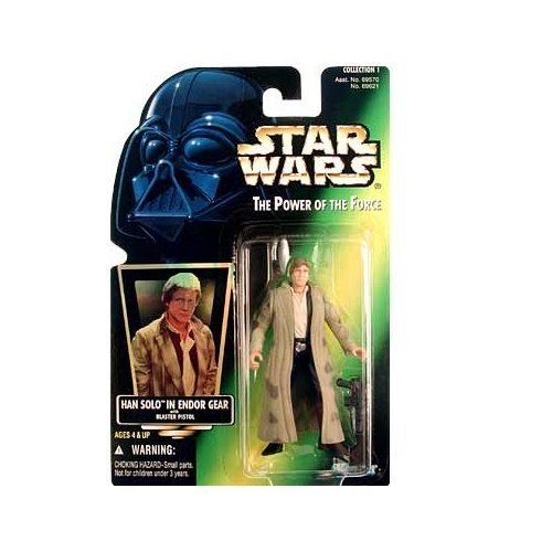 Star Wars: Power of the Force Green Card Han Solo in Endor Gear Action Figure by Star Wars ()