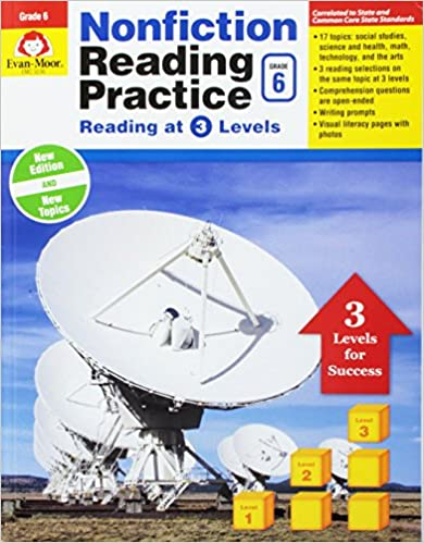 Book Nonfiction Reading Practice, Grade 6