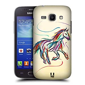 Head Case Designs Horse Colourful Animal Scribbles Protective Snap-on Hard Back Case Cover for Samsung Galaxy Ace 3 S7270 S7272 by icecream design