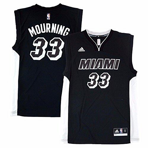 Alonzo Mourning Miami Heat NBA Adidas Men's Black Replica Jersey (L) - Alonzo Mourning Miami Heat