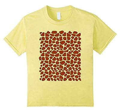 Giraffe Pattern Simple Halloween Costume T-Shirt