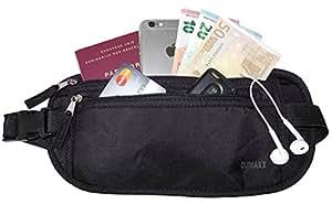 Cinturón Monedero [con Protección RFID] - Ideal para viajar – ¡Mantenga seguros sus objetos de valor con este cinturón monedero de viaje cómodo y transpirable!