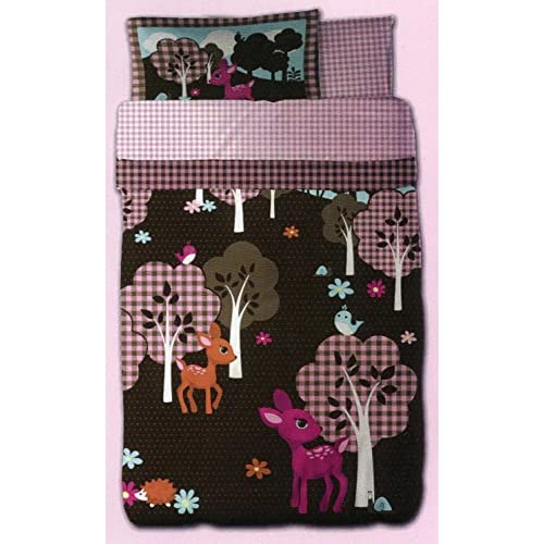 Cheap Just For Kids Girls Woodland Story 5pcs Full Bed Set - Bed in a Bag