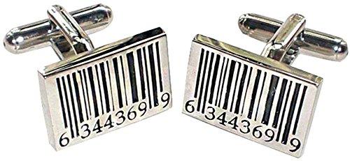 [TAUT 1 Pairs Men's Modern Ornate Pattern Style Dress Shirt Cufflinks, Bar Code] (R2d2 Costume Pattern)