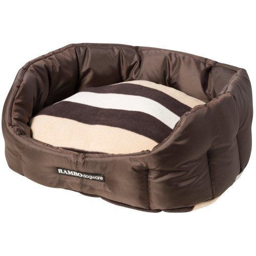 Horseware Rambo Dog Bed Chocolate Whitney Fleece Cushion Size  XS (58x47cms)