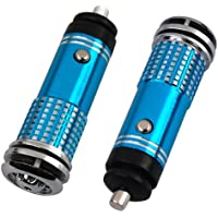 Water & Wood Mini Auto Car Fresh Air Purifier/Ionizer Oxygen Bar, 12V, Blue