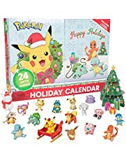 Pokemon 2020 Holiday Advent Calendar for Kids, 24 Pieces - Includes 16 Toy Character Figures & 8 Christmas Accessories - First Time Special Edition - Ages 4+
