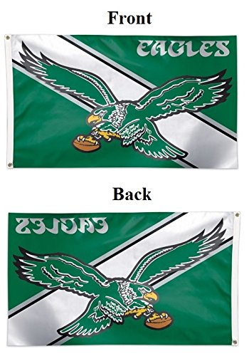 WinCraft NFL Philadelphia Eagles 04110115 Deluxe Flag, 3' x 5'