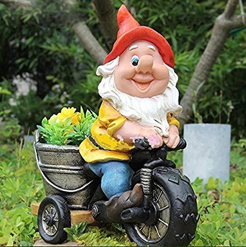 Nana Di Progettazione bl15156/ /1/Bicicletta XL 37/cm alto decorazione da giardino Nano da giardino statua decorazione design