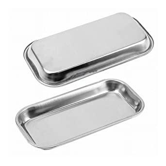 Amazon.com: WSERE - Bandeja de acero inoxidable rectangular ...