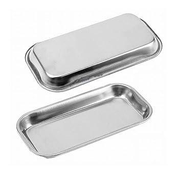 Amazon.com: WSERE - Bandeja de acero inoxidable rectangular ...