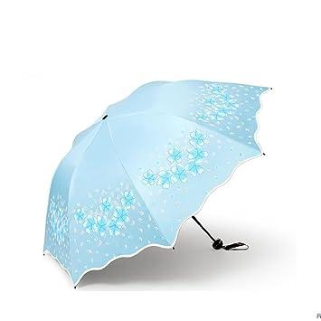 ZL Sombrilla para El Paraíso Protección UV para El Sol Goddess Sombrilla Sombrilla De Plástico Negro
