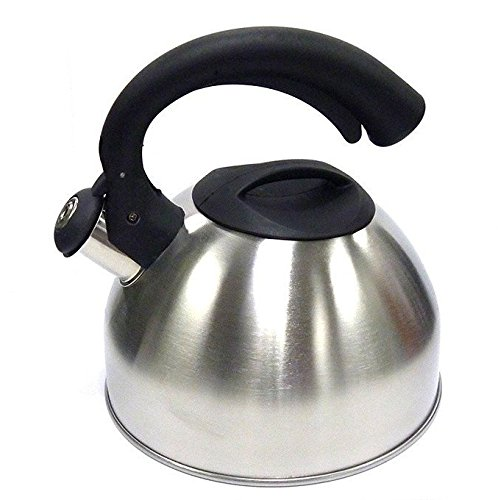 Whistling Tea Kettle Polished Stainless Steel Classic Design
