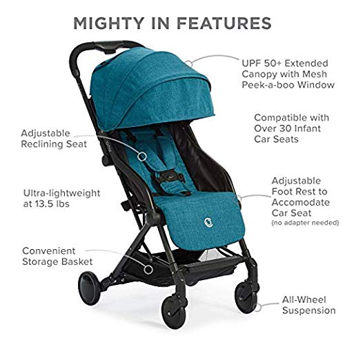 Prettop Universal Baby Jeep Jogging Stroller Weather Shield Accessories with Storage Pouch Clear Windproof Waterproof Travel Umbrella Cover for Pram,Outdoor Use Air Holes Rain Cover for Stroller