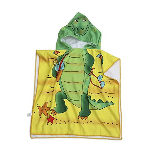 Polly House Children Hooded Beach Towel, Shower Bath Robes, Swim coverup, Water Activities Towel Boy/Girls, Soft Strong Absorbent (11)