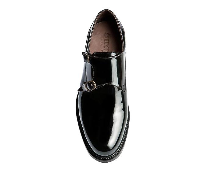 GuidoMaggi - Mocasines, elegantes, con alza de 7.5 cm - GARDA - Marrón - Talla 43 EU: Amazon.es: Zapatos y complementos