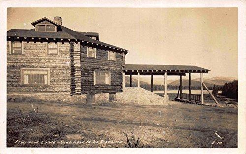 Real Photo Postcard Echo Lake Lodge in Idaho Springs, Colorado~117275