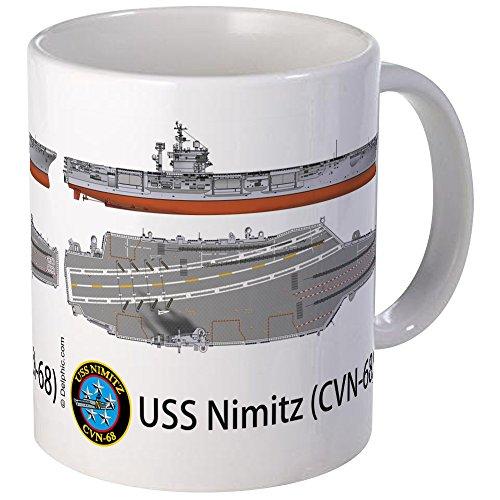 CafePress - USS Nimitz CVN-68 - Unique Coffee Mug, 11oz Coffee Cup (Uss Nimitz Coffee Cup compare prices)