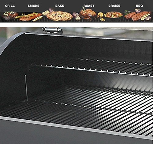 Wood Pellet Grill & Smoker with Patio Cover,700 Cooking Area 7 in 1- Electric Digital Controls Grill for Outdoor BBQ Smoke, Roast, Bake, Braise and BBQ with Storage Cabinet (Free 2 Wood Pellets) by Z GRILLS (Image #3)