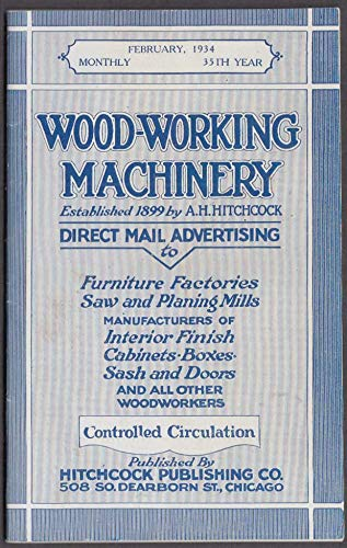 WOOD-WORKING MACHINERY 2 1934 furniture saw mills cabinets equipment