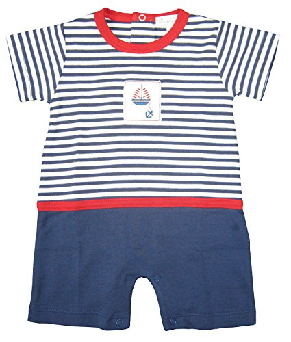 Kissy Kissy Baby-Boys Infant skysail Stripe Short Playsuit