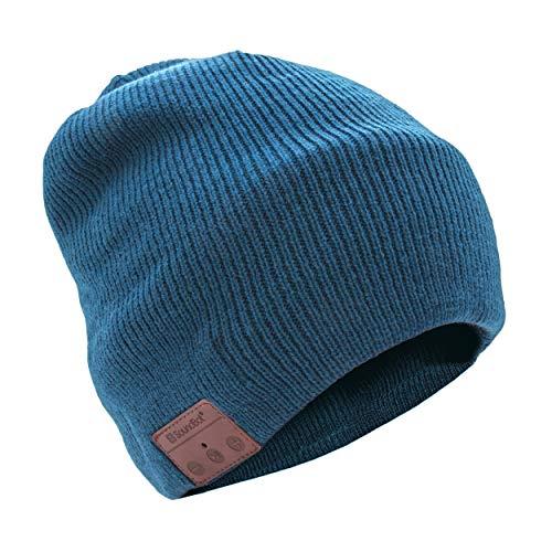 SoundBot¨ SB210 HD Stereo Bluetooth 4.1 Wireless Smart Beanie Headset Musical Knit Headphone Speaker Hat Speakerphone Cap,Built in Mic  Blue