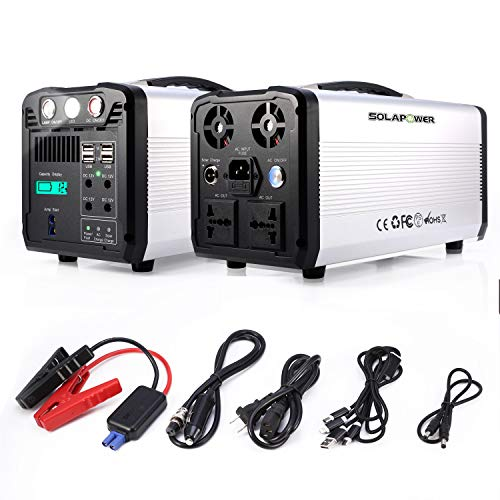 SOLAPOWER 1000W Generator Portable Power Station-[ UPS 500W Continuous 1000w Peak ]-Lithium Battery Inverter with 110V AC Outlet, 4 DC 12V Port, 4 USB, Solar Generators for Camping CPAP Emergency Home Uncategorized