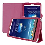 kwmobile Elegant synthetic leather case for Asus Memo Pad 8 in dark pink with convenient STAND FEATURE