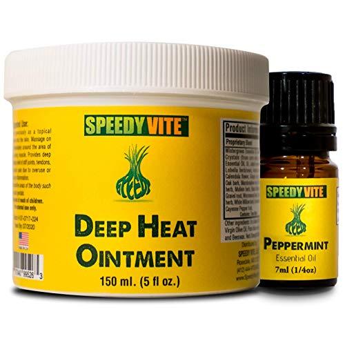 - Natural Headache Support* SpeedyVite® Organic Deep Heat and Peppermint Essential Oil Combo