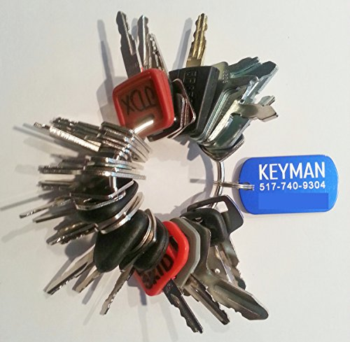 Keyman 35 Heavy Equipment Construction Keys Set