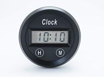 CarLab Reloj Digital para Coche de 52 mm, Pantalla de 12 V, medidor de