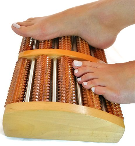 ZenGuru Best Foot Massage Roller Tool - SALE - Effective Acupressure Massage for Foot and Heel Plantar Fasciitis Pain Relief - Promotes Better Blood Circulation - Feet Reflexology Chart Included (Massage Foot Chart)