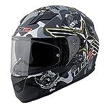 LS2 Stream Veteran 2 Full Face Motorcycle Helmet With Sunshield (Gray/Black, Medium)