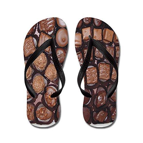 Cafepress Chocolate Candy - Flip Flops, Grappige String Sandalen, Strand Sandalen Zwart