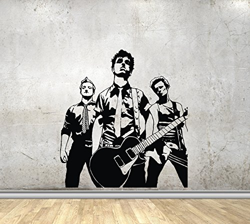 Stagger Wall Decals Green Day Billie Joe Armstrong Mike Dirnt Tre Cool Decor Stickers Vinyl MK0798