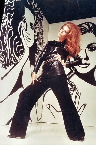 Ann-Margret 24x36 Poster 1970's Pose Long Red Hair in Leather -
