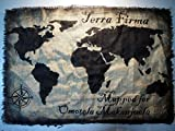 World Map wall art made of worn out burlap, painted by hand | Personalized World map rustic wall decor | Vintage handmade World Map | Made to order, Brand New, Antique Look, Custom gift