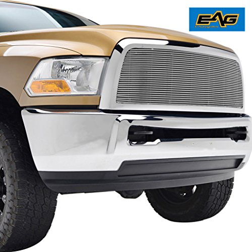 EAG Replacement Grille for 13-17 Dodge Ram 2500 3500 - Aluminum Billet Upper Front Grill
