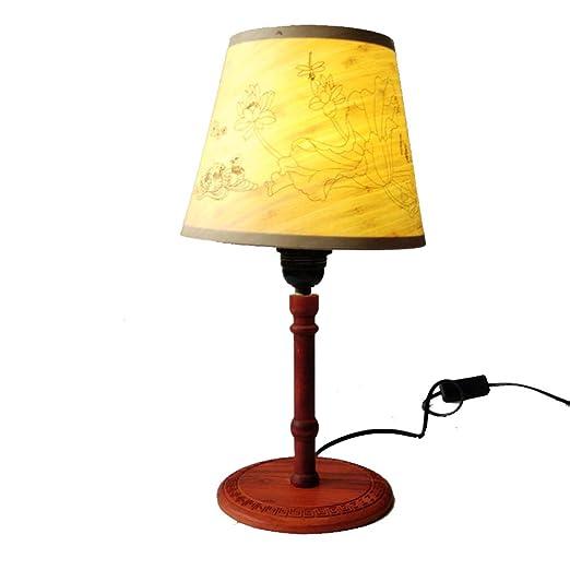 MICOKY Mesa lámpara clásica Madera graduable-I Dormitorio ...