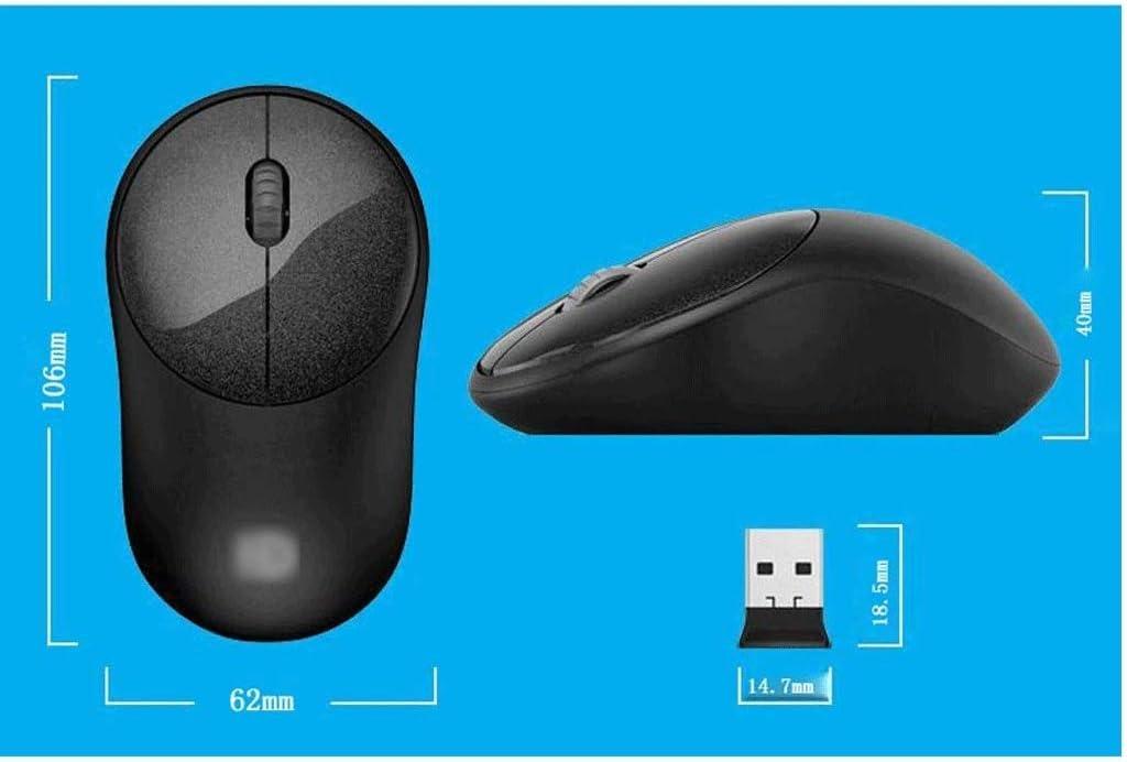 ZDSJJ Keyboard - Draadloze muis en toetsenbord Set Office Zakelijk Meisje Notebook Desktop Mute Keyboard Mouse Game, Groen Zwart