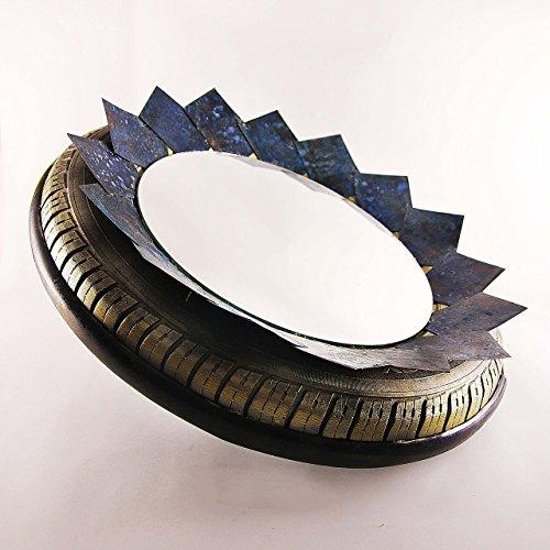 Steampunk mirror, industrial mirror, upcycled mirror
