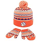 Top of the World Knitted Clemson University Tigers Toddler Beanie Glove Set