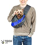 Pet Sling Carrier for Cats Dogs (Blue)